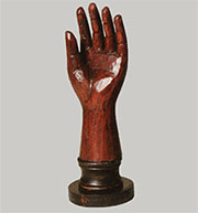 "Hand Carved Wooden Hand. The ""Welcome"" Hand HA-9060-1"