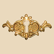 Keyhole Cover Victorian Cast Brass B-0206