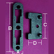 Cast Iron Bed Rail Fastener Set F-9425 Large 5-3/8 Inch Long 4 male 4 females