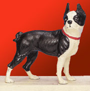 DISCONTINUED WILL NOT SHIP. Dog Door Stop Boston Terrier UDX-362