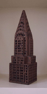Cast Iron Chrysler Building Candle Lantern AA-35352 DISCONTINUED WILL NOT SHIP