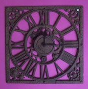 Cast Iron Wall Clock