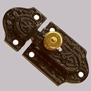 Slide Bolt Cabinet Cupboard Latch Black Cast Iron BM-9614
