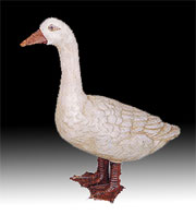 DISCONTINUED WILL NOT SHIP. Life Size Cast Iron Goose UDX-747