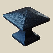 Pyramid Knob Mission Style Cast Iron K-62CI BM-9262