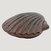 Aquatic Nautical Cast Iron Sea Scallop Shell Box Rust HA-1886-1