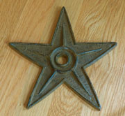 Architectural Cast Iron Star