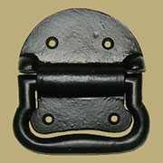 Metal Trunk Handle Black Cast Iron Small F-4297A