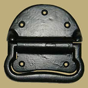 Metal Trunk Handle Black Cast Iron Large  F-4297B
