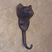 Cast Iron Cat Coat Hook UDX-2647