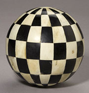 Discontinued WILL NOT SHIP Checker Board Bone Ball AA-51025