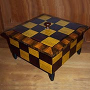 Checker Finished Wooden Lidded Box AA-12850