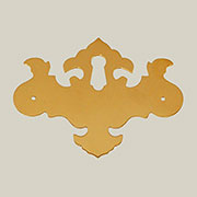 Chippendale Keyhole Cover Brass B-0177 BM-1466PB