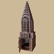 Cast Iron Chrysler Building Candle Lantern AA-35352
