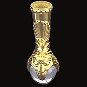 DISCONTINUED WILL NOT SHIP. Piano Stool Claw and Ball Foot in Cast Brass with Glass Ball. C-7B