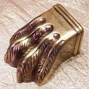 Antique Stamped Brass Duncan Phyfe Claw Foot Splayed AD-2304