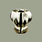 Clear Hexagon Shaped Glass Knob 7/8 Inch with Nickel Plated Bolt C-0324C BM-5201