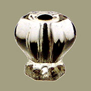 Glass Knob for Hoosier Clear Hexagon Shape with Nickel Bolt K-34C C-0325C BM-5202