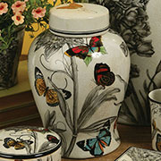 Chloe Porcelain Urn Jar by Homart HA-7048-89