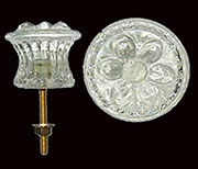 Large Colonial Glass Knob Flower Pattern 1-1/2 Inch Diameter C-0318A