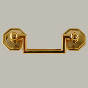 Octagon Bail Pull 2-1/2 Inch Centers Solid Brass Colonial Revival and Chippendale Pull BM-1317PB