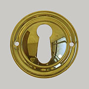 Polished Stamped Colonial Revival Round Key Hole
