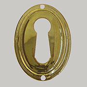 Polished Stamped Colonial Revival Vertical Oval Key Hole