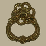 Colonial Revival Antique Brass Ring Pull AD-1264 B-1264+Darkening