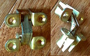 Brass Plated Steel Concealed Full Mortise Hinge D-1771 H-217203P