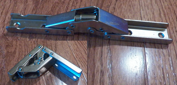 Non bore hinge for Concealed piano hinge