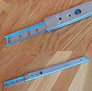Pair of 27mm Copenhagen Type Drawer Slides 10-7/8 Long x 1-1/16 Inches High DSP-8800/277