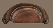 B-16HAC Half Moon Antique Copper Bin Pull