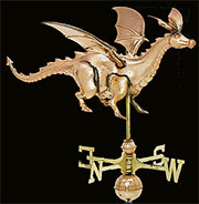 Copper Dragon Weathervane UDW-256P