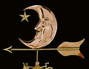 Copper Moon & Star Weathervane UDW-274P