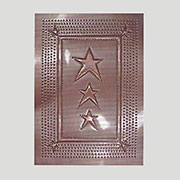 """F"" Star Pie Safe Tin Antique Copper 14x10 Inches PST27-CHERSH"