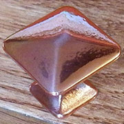 Pyramid Knob Mission Style Bright Copper K-62C