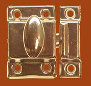 """A"" Brass Plated Cupboard Cabinet Turn Latch BI-15A D-1432 BM-1617PB"