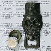 "Skull Bottle Opener ""Jose"" Halloween Cast Iron Day of the Dead HA-1836-0"