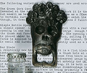 "XXDiscontinued WILL NOT SHIP. Skull Bottle Opener ""Chela"" Cast Iron Day of the Dead Halloween"