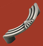 Pewter Art Deco Contemporary Drawer Pull