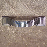 Deco Drawer Pull Art Deco in Satin Nickel P-3100-SNHERSH