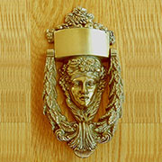 Demeter Greek Goddess Door Solid Brass Knocker Circa 1890s Victorian Design Solid Brass TR-B2510P