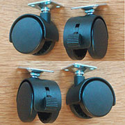 Set of 4 Desk Chair Casters with Brake CDUOHD501BS