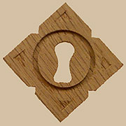 Diamond Shaped Oak Keyhole Cover W3-0110 BM-4369