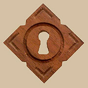 Diamond Shaped Walnut Keyhole Cover W2-0110 BM-4349