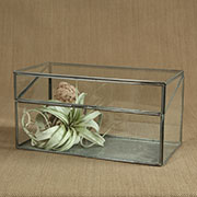 Curio Display Case Box Leaded Glass Small Size HA-4499-0