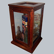 Z Discontinued, will not ship. Haan Antiqued Wood Display Case with Door HA-9603-13