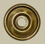 Drawer Pull Eye Bolt Backplate Polished Stamped Brass