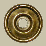 Drawer Pull Eye Bolt Backplate Polished Stamped Brass B-0447