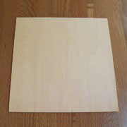 Chair Seat Birch Undrilled 11-7/8 Inches Square W9-9101